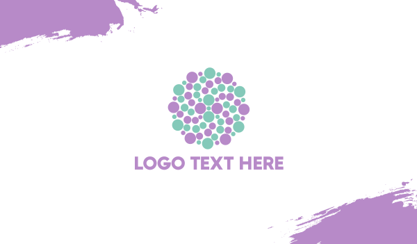 sandblast - Dots Circle Business card horizontal design
