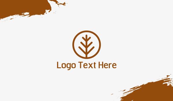 brown circle - Treenet Business card horizontal design