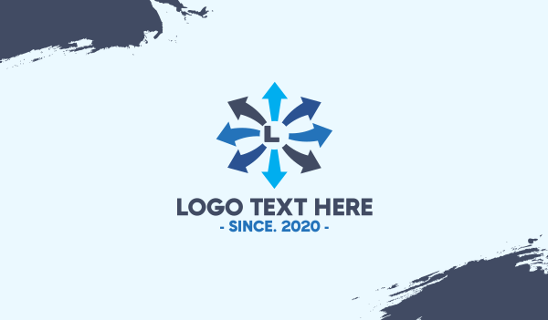 saas - Blue Finance Arrow Letter Business card horizontal design
