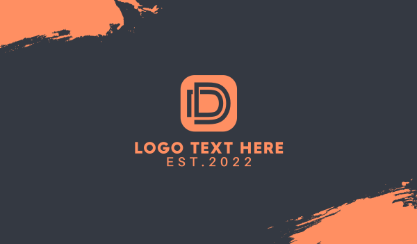 Letter D App Business Card