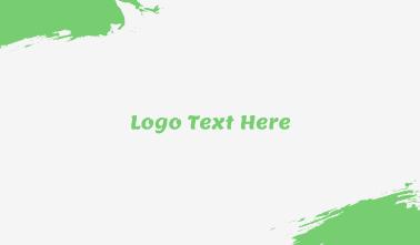 Modern Green Cool Wordmark Business Card