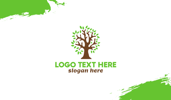 oak tree - Old Brown Tree Business card horizontal design
