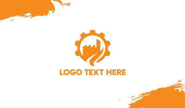 orange city - Cogwheel City Business card horizontal design