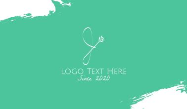 Floral Letter J Business Card