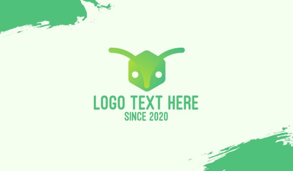 pest - Green Gradient Ant Business card horizontal design