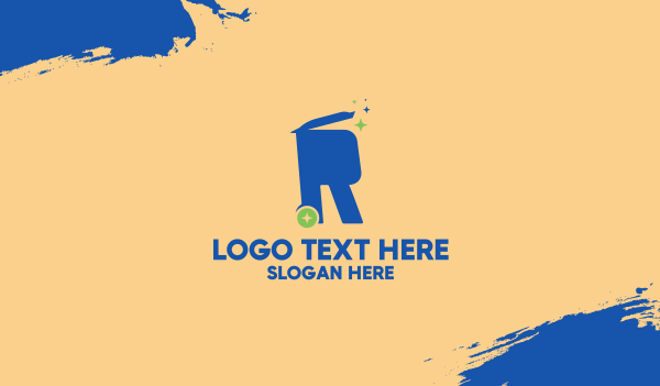 reuse - Recycling Bin Letter R Business card horizontal design