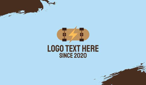 skater - Generic Electric Skateboard Business card horizontal design
