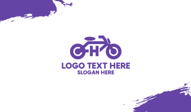 Motorbike Letter H Business Card