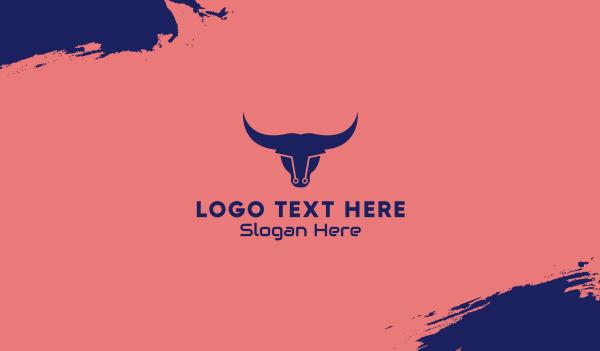 hacker - Tech Bull Business card horizontal design