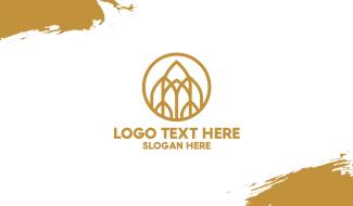 Luxurious Golden Emblem Business Card