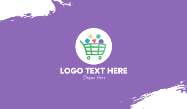 Geometric Shopping Cart Business Card