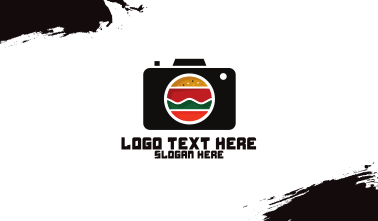 Fast Food Photographer Camera Business Card