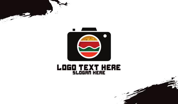 patty - Fast Food Photographer Camera Business card horizontal design