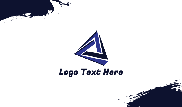 blue triangle - Tech Triangle Gaming Business card horizontal design