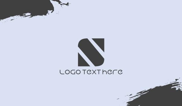 showroom - Minimalist S Brand Business card horizontal design