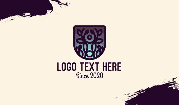 events - Deer Twilight Shield Business card horizontal design