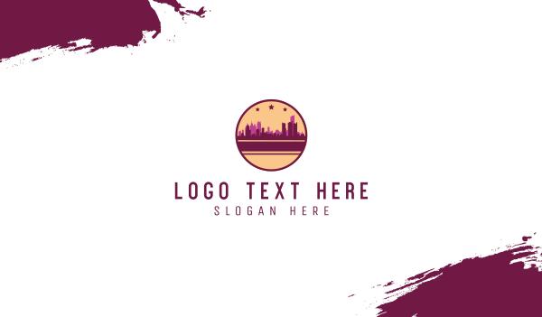 metropolis - City Circle Business card horizontal design