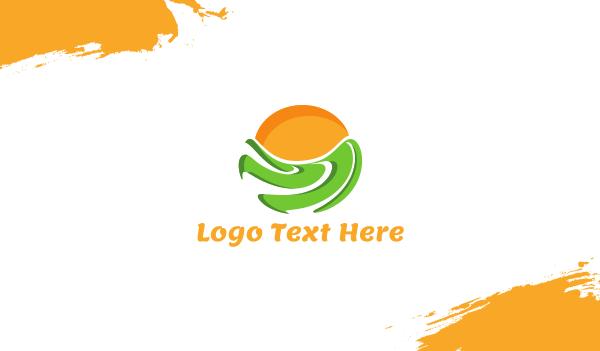 recreation - Green Field Business card horizontal design