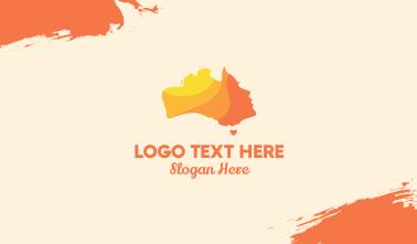 Australian Beauty Face  Business Card
