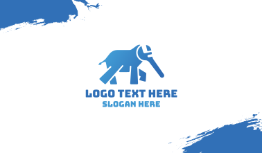 Blue Elephant Wrench Business Card
