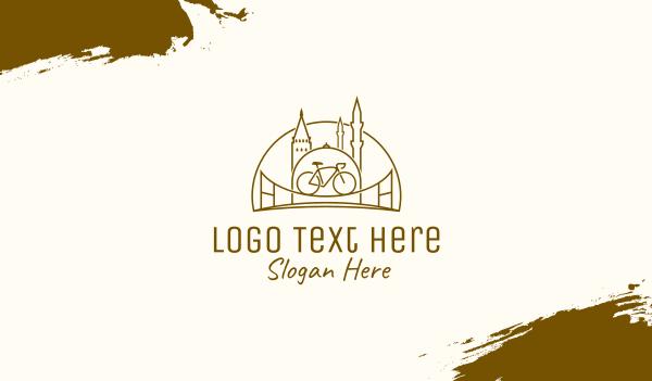 cyclist - City Bicycle Travel Tour Business card horizontal design