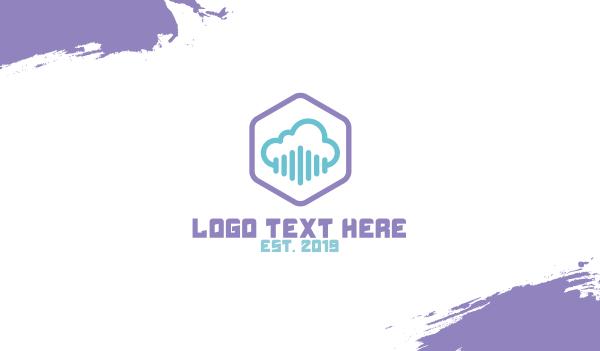 forecast - Cloud Hexagon Business card horizontal design