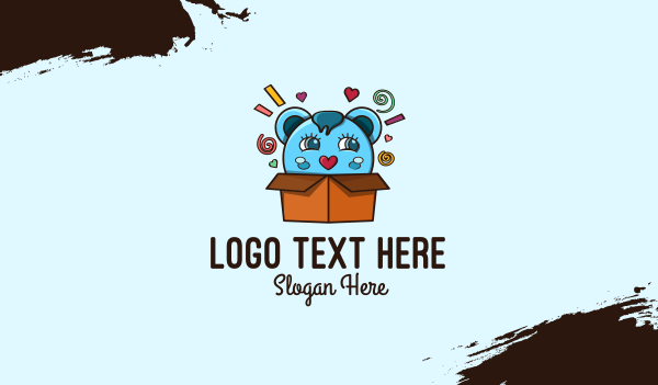 adorable - Teddy Bear Box Business card horizontal design