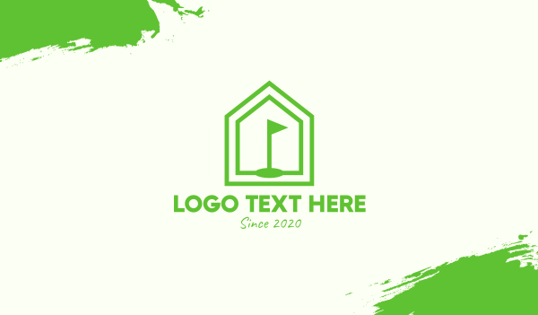 pentagon - Green Home Golf Course Business card horizontal design