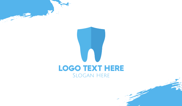 Dental Tooth Shield Business Card