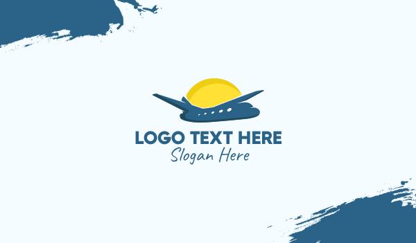 aeronautical - Summer Vacation Airplane Business card horizontal design
