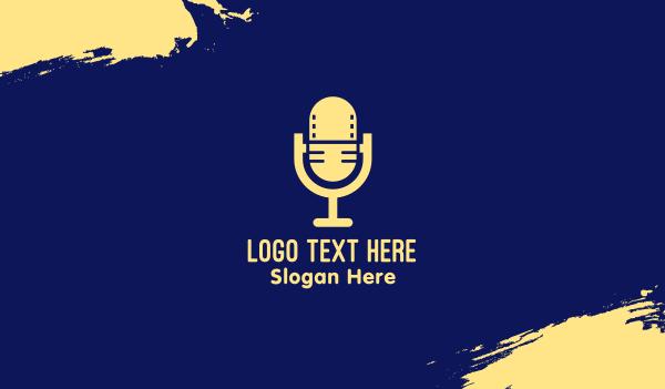 mic - Podcast Video Microphone  Business card horizontal design