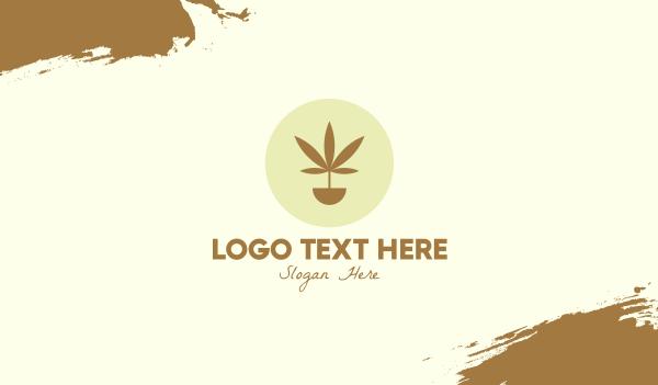 medical drug - Cannabis Marijuana Plant Business card horizontal design