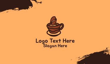 Coffee Bean Cup Business Card