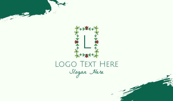 arrangement - Flower Garden Letter Business card horizontal design