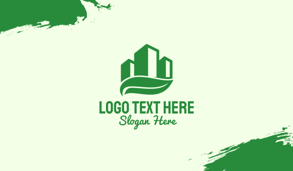 recycle - Green Eco Building Business card horizontal design