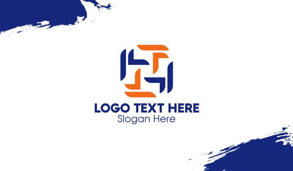 letter l - Multiple Letter L Style Business card horizontal design