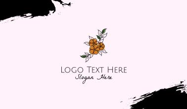 Flower Boutique Line Art Business Card