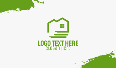 Green Eco Friendly House Business Card