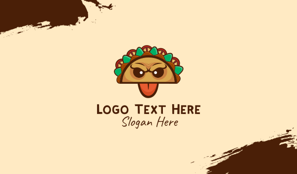 game - Mexican Taco Monster Business card horizontal design