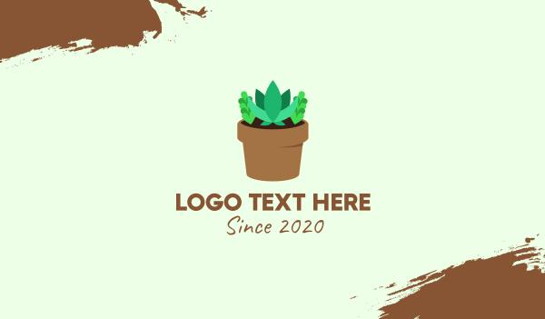 cacti - Succulent Gardening Pot Business card horizontal design