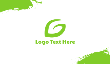 Leaf G Stroke Business Card