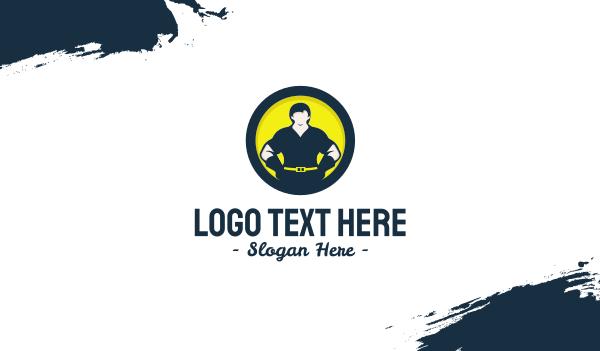 removal - Strong Man Circle Business card horizontal design