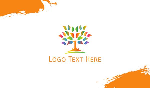 arborist - Neon Tree Business card horizontal design