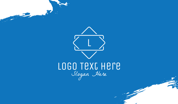 clothing store - Simple Minimalist Classic Lettermark Business card horizontal design