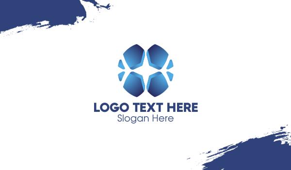 blue cross - Blue Cross Mosaic Business card horizontal design
