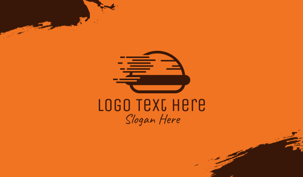 eating - Fast Food Burger Business card horizontal design
