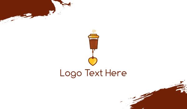comfort - Coffee Love Business card horizontal design