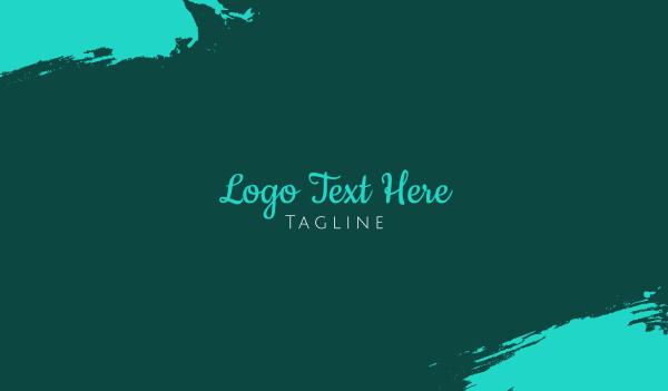 word - Modern Handwritten Font Business card horizontal design