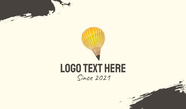 graphic design - Artist Pencil Balloon Business card horizontal design