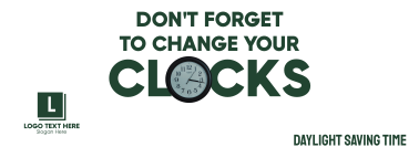 Daylight Saving Time Reminder Facebook cover